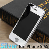 For apple iPhone 4 4s 5 5s 6s 6Plus Plus case 2.5D Screen Protector Metal Plating Mirror Premium Tempered Glass Full Cover Film - Hespirides Gifts - 18