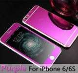 For apple iPhone 4 4s 5 5s 6s 6Plus Plus case 2.5D Screen Protector Metal Plating Mirror Premium Tempered Glass Full Cover Film - Hespirides Gifts - 4
