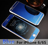 For apple iPhone 4 4s 5 5s 6s 6Plus Plus case 2.5D Screen Protector Metal Plating Mirror Premium Tempered Glass Full Cover Film - Hespirides Gifts - 7
