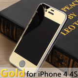 For apple iPhone 4 4s 5 5s 6s 6Plus Plus case 2.5D Screen Protector Metal Plating Mirror Premium Tempered Glass Full Cover Film - Hespirides Gifts - 11