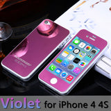 For apple iPhone 4 4s 5 5s 6s 6Plus Plus case 2.5D Screen Protector Metal Plating Mirror Premium Tempered Glass Full Cover Film - Hespirides Gifts - 14