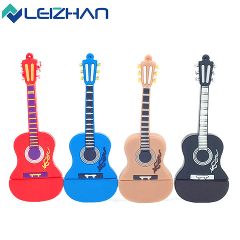 Cute Guitar 4GB 8GB 16GB 32G USB Flash Drive Pendrive USB Stick External Memory Storage Pen Drive U Disk usb flash card - Hespirides Gifts