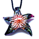 Flower Inside Starfish Pendants & Necklaces Summer necklace for women Jewelry Women necklaces Beautiful Murano Lampwork Glass - Hespirides Gifts - 3
