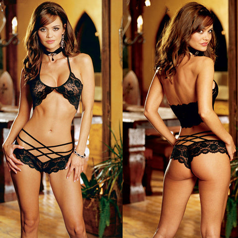 Women Sexy Lingerie Hot Lace Strap Set Babydoll Sexy Teddy Underwear Lenceria Sexy Costumes For Women Ladies Erotic Lingerie - Hespirides Gifts - 1