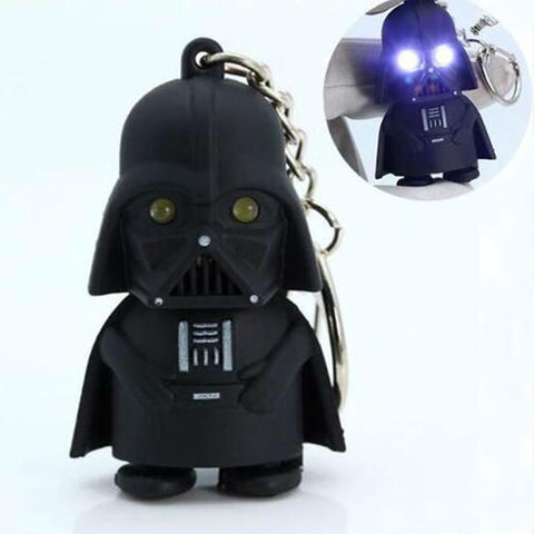 LED Flashlight Keychain Darth Vader Star War Anakin Skywalker Figure Keychains Black Key Chain Rings Men Women Jewelry - Hespirides Gifts