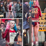 New Batman Harley Quinn Suicide Squad Costume Adult Women Cosplay Costume Full Set Jacket T Shirt Shorts - Hespirides Gifts - 1