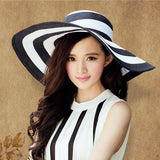 Hot new brand caps girl summer straw hat beach sun hats for women Sexy vogue ladies large brim women fan sombrero - Hespirides Gifts - 1