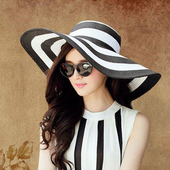 Hot new brand caps girl summer straw hat beach sun hats for women Sexy vogue ladies large brim women fan sombrero - Hespirides Gifts - 3