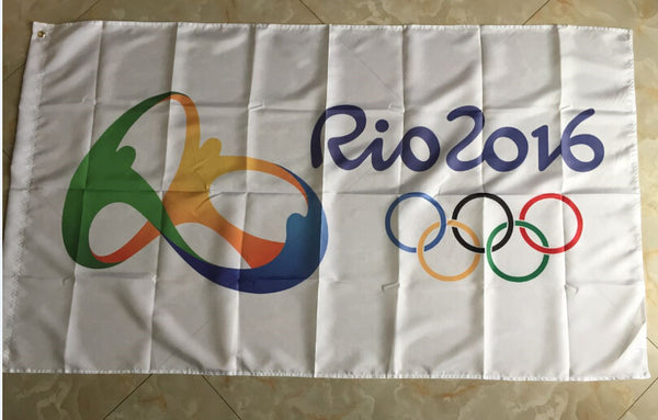 Olympic Games in Rio de Janeiro Brazil I love Brazil indoor outdoor sports events 3x5 ft for Celebration - Hespirides Gifts