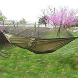 Hot Selling Portable Hammock Single-person Folded Into The Pouch Mosquito Net Hammock Hanging Bed For Travel Kits Camping Hiking - Hespirides Gifts - 7