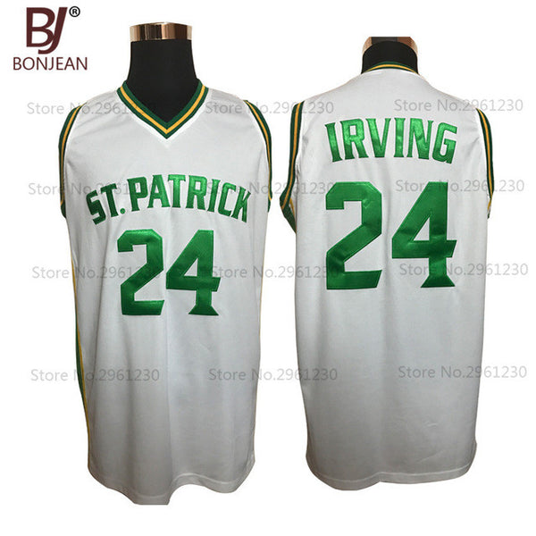 a35c65a38aec Buy BONJEAN Cheap Kyrie Irving 24 St. Patrick High School White Basketball  Jersey Throwback Sewn Shirt Any Size Free Shipping at Hespirides Gifts for  only ...
