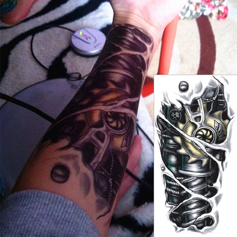 Robot Machine Arm Temporary Body Art Flash Tattoo Stickers, 12*20cm Waterproof Tatto Henna Tatoo Summer Style Adult Sex Products - Hespirides Gifts