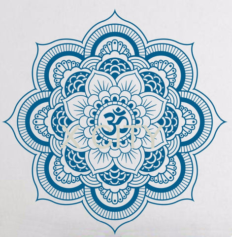 Pinturas Murais Big Mandala Vinyl Wall Decal Yoga Sticker Menhdi Lotus Large Pattern Ornament Om Indian Mural Home Decor - Hespirides Gifts