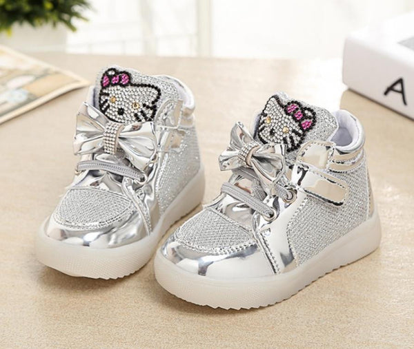 Girls shoes baby Fashion Hook Loop led shoes kids light up glowing sneakers little Girls princess children shoes with light - Hespirides Gifts - 6