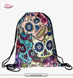 In stock Teenager food escolar daily drawstring backpack 3D printing travel softback man women mochila feminina bag backpacks - Hespirides Gifts - 1
