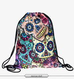 In stock Teenager food escolar daily drawstring backpack 3D printing travel softback man women mochila feminina bag backpacks - Hespirides Gifts - 17