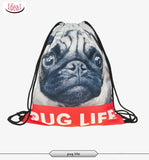 In stock Teenager food escolar daily drawstring backpack 3D printing travel softback man women mochila feminina bag backpacks - Hespirides Gifts - 20