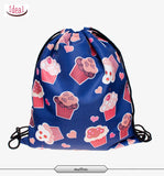In stock Teenager food escolar daily drawstring backpack 3D printing travel softback man women mochila feminina bag backpacks - Hespirides Gifts - 11