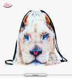 In stock Teenager food escolar daily drawstring backpack 3D printing travel softback man women mochila feminina bag backpacks - Hespirides Gifts - 6