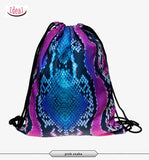 In stock Teenager food escolar daily drawstring backpack 3D printing travel softback man women mochila feminina bag backpacks - Hespirides Gifts - 7