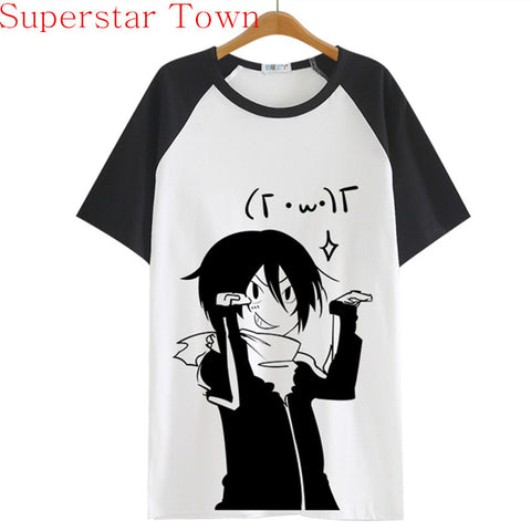 Summer Style Sudadera Anime Tops Tee Casaul Noragami T-shirt Women Japan Cool Clothes Patchwork Female Harajuku Shirt - Hespirides Gifts - 1