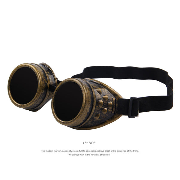 MERRY'S Unisex Gothic Vintage Victorian Style Steampunk Goggles Welding Punk Gothic Glasses Cosplay - Hespirides Gifts - 4