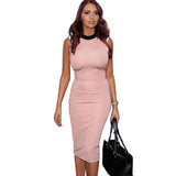 Fashion Women Work Elegant Patchwork Stretch Tunic Dress Sheath Business Casual Office Formal Party Pencil Dresses Plus Size B38 - Hespirides Gifts - 1