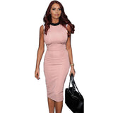 Fashion Women Work Elegant Patchwork Stretch Tunic Dress Sheath Business Casual Office Formal Party Pencil Dresses Plus Size B38 - Hespirides Gifts - 2