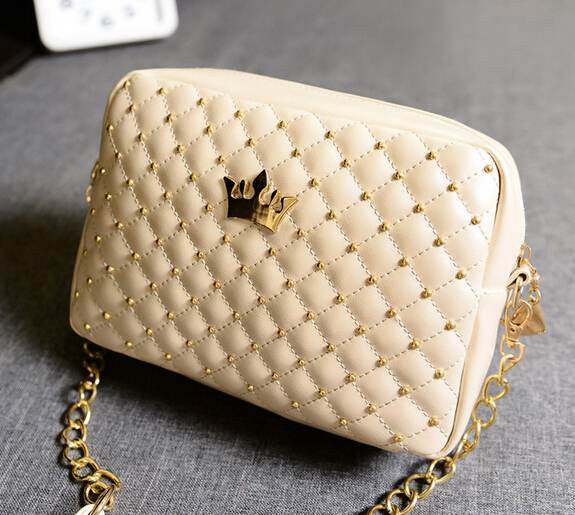 Excellent Quality Womens Bag Fashion Women Messenger Bags Rivet Chain Shoulder Bag High Quality PU Leather Crossbody SA027 - Hespirides Gifts - 6