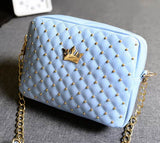 Excellent Quality Womens Bag Fashion Women Messenger Bags Rivet Chain Shoulder Bag High Quality PU Leather Crossbody SA027 - Hespirides Gifts - 2