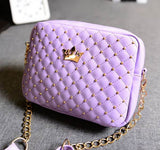 Excellent Quality Womens Bag Fashion Women Messenger Bags Rivet Chain Shoulder Bag High Quality PU Leather Crossbody SA027 - Hespirides Gifts - 4