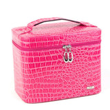 Fashion Alligator Leather women gift box organizer carrying casket Makeup bag Cosmetic bags cases storage boxes - Hespirides Gifts - 2
