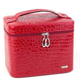 Fashion Alligator Leather women gift box organizer carrying casket Makeup bag Cosmetic bags cases storage boxes - Hespirides Gifts - 4