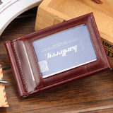 Hot Sale Fashion New Men Money Clips Black Brown PU Leather 2 folded Open Clamp For Money With Zipper Pocket - Hespirides Gifts - 3