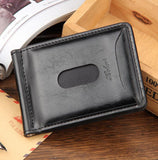 Hot Sale Fashion New Men Money Clips Black Brown PU Leather 2 folded Open Clamp For Money With Zipper Pocket - Hespirides Gifts - 4