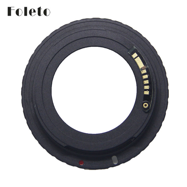 Foleto AF Camera M42 E Black AF Confirm Mount Adapter For M42 Lens to For Canon EOS EF Camera EOS 5D / EOS 5D Mark II / EOS 7D - Hespirides Gifts
