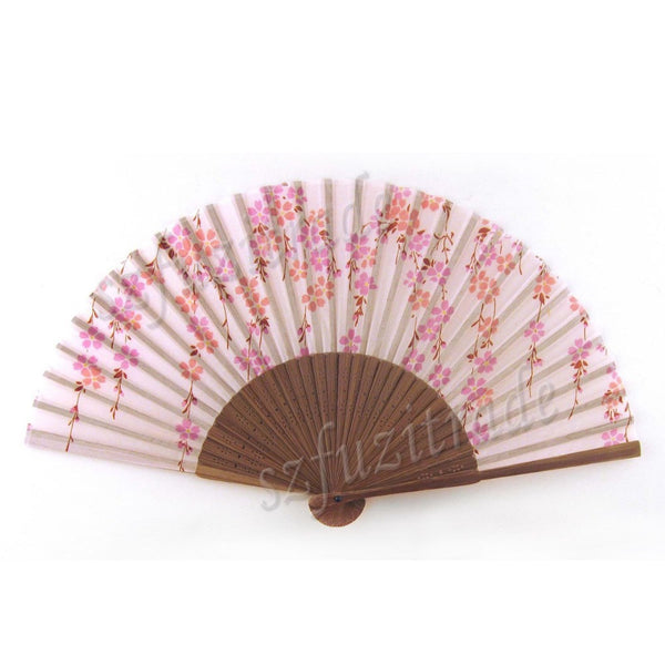 Wholesale & Retail Chinese Bamboo Silk Flower Hand Fan Craft Home Decor Gift Dance Dancing Wedding Party Decoration AHA00149 -48