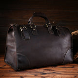 Vintage Men's Genuine Leather Bags Capacity Vintage Travelling Luggage Tote Travel Bag Duffle Gym 3151 / 8151 - Hespirides Gifts - 1