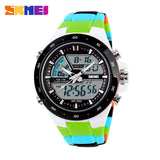 SKMEI Men Sports Watches Fashion Casual Men's Watch Digital Analog Alarm 30 Waterproof Man Military Multifunctional Wristwatches - Hespirides Gifts - 2