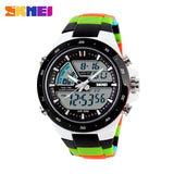 SKMEI Men Sports Watches Fashion Casual Men's Watch Digital Analog Alarm 30 Waterproof Man Military Multifunctional Wristwatches - Hespirides Gifts - 5