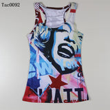 Summer New Women Vests 3D Audrey Hepburn Print Fitness Camisole Leisure Galaxy Tank Tops Shirts Tees - Hespirides Gifts - 3
