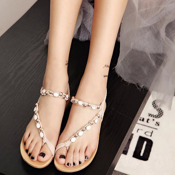 New Summer Fashion black Shoes Bohemia Gladiator women Flat Sandals Flip flops chaussure femme zapatos mujer S045 - Hespirides Gifts - 4