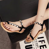 New Summer Fashion black Shoes Bohemia Gladiator women Flat Sandals Flip flops chaussure femme zapatos mujer S045 - Hespirides Gifts - 2