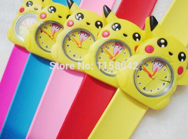 kids colorful jelly silicone clap clock , children lovely slap watch 10pcs/lot kids Pokemon watches pikachu watch - Hespirides Gifts