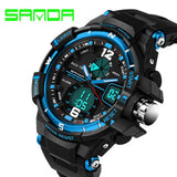 SANDA Fashion Watch Men G Style Waterproof LED Sports Military Watches Shock Men's Analog Quartz Digital Watch relogio masculino - Hespirides Gifts - 5