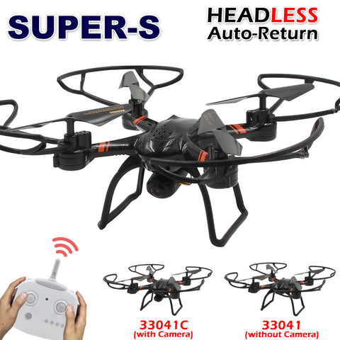 SUPER-S RC Drone 33041C with HD Camera Professional 2.4G Remote Control Quadcopter Toy Helicopter Dron / 33041 without Camera - Hespirides Gifts - 1