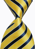 Hot Selling Brand New Classic Striped Tie Multi Dark Gray Red Blue Purple Black Yellow Jacquard Woven 100% Silk Mens Tie Necktie - Hespirides Gifts - 3