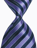 Hot Selling Brand New Classic Striped Tie Multi Dark Gray Red Blue Purple Black Yellow Jacquard Woven 100% Silk Mens Tie Necktie - Hespirides Gifts - 5