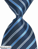 Hot Selling Brand New Classic Striped Tie Multi Dark Gray Red Blue Purple Black Yellow Jacquard Woven 100% Silk Mens Tie Necktie - Hespirides Gifts - 13