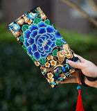 Hot New Embroidered Wallet Purse Handmade Ethnic Flowers Embroidery Women Long Wallet Day Clutch HandBag - Hespirides Gifts - 3